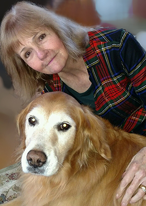 image of Joan and her dog Patience